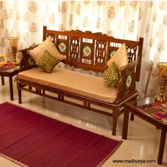 simple wooden sofa sets for living room - Google Search | Decors ...