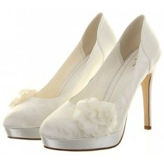 Mimosa by Else for Rainbow Club Ivory Lace Wedding or Occasion Shoes - SALE
