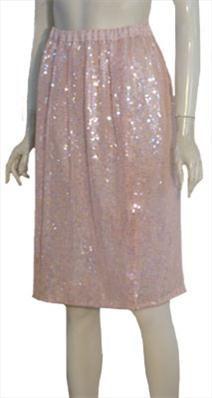 Pink 80s Rayon Skirt  $40.00