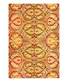 Gold Firenze Lifestyle Rug by KAS Rugs on #zulily. My Colors: Yellow, Red, Green & Blue. The blue is more slate, but works. A forgiving pattern below dining table. 3'11 x 5'3 = $42.99. Reg. approx. $100. All Sizes Reg $32. - $340. Now $12.99 - $139.99.