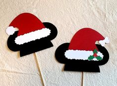 Christmas Photo Booth Props 2 pc Holiday Mickey & by PimpYourParty
