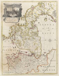 Map of Ingria and Karelia in the 1740s