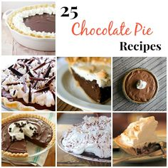 25 Chocolate Pie Rec