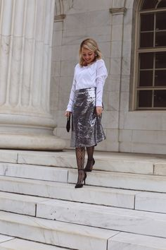 New Years outfit #sparkleskirt #holidaylook