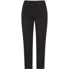 annalisa Black / White Plus Size Tapered polka dot trousers ($67) ❤ liked on Polyvore featuring pants, black, plus size, white high waisted trousers, loose pants, plus size white pants, high-waist trousers and womens plus pants