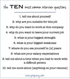 Interview questions, Posts and Common interview questions on Pinterest