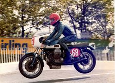Steve Wynne of Sports M/Cs entered two factory engines fitted to John Sear's and Roy Armstrong's chassis in the 1977 TT with Steve Tonkin and George Fogarty riding - from interview with Roy Armstrong by David McMillan. Doug Lunn finished 14th, Eddie Roberts and Tonkin DNF all on Guzzis in Formula 1. 1978 TT Charlie Sanby 12th, John Hammond 21st, Roy Armstrong DNF. 1979 TT Brian Moses 32nd is rider in this picture.