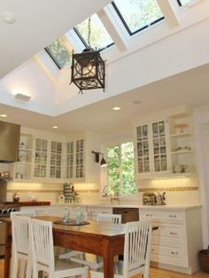 Astounding skylight architecture - visit our brief article for a whole lot more tips! Kitchen Decor, Kitchen Design, Kitchen Ideas, Rustic Bedroom Design, Living Room Green, Kitchen Cabinetry, Cabinets, Dream Rooms, Home Kitchens