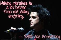 Billie Joe Armstrong ; Mistakes.
