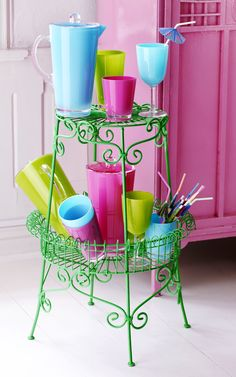 Colorful Retro Style Glasses and Jugs from RICE