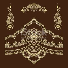 Set of Mehndi flower pattern for Henna drawing and tattoo. Decoration in ethnic oriental, Indian style. Henna Drawings, Abstract Drawings, Mandala Drawing, Mandala Tattoo, Henna Patterns, Textile Patterns, Tattoo Fleur, Hena, Mehndi Flower