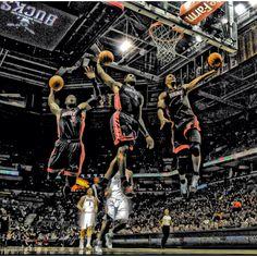 Miami Heat - Big 3 http://pinterest.com/treypeezy http://twitter.com/TreyPeezy http://instagram.com/OceanviewBLVD http://OceanviewBLVD.com