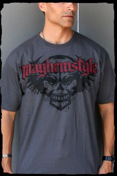 MayhemStyle Logo and Dark Symbol T-Shirt