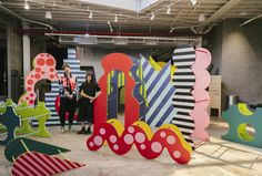 The Brooklyn creative studio of Wade Jeffree and Leta Sobierajski — a couple who share a taste for quirky aesthetics and crisp design. Maze Design, Sea Sculpture, Office Branding, Exhibition Display, Creative Studio, Installation Art, Art Installations, Event Design, Playground