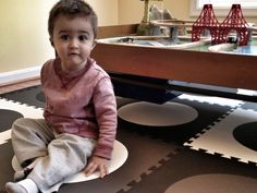 Use SoftTiles Die-Cut Circles Interlocking Foam Mats to create modern design playrooms and play mats.