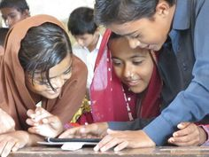 One step ahead with E-learning! Students in rural Sindh have welcomed the addition of E-learning in their studies. Beautiful Children, First Step, Education, Learning, School, Students, Beautiful Kids, Teaching, Training
