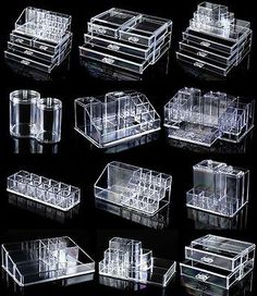 lipstick holder Rangements Maquillage Details about Clear Acrylic Makeup Case Cosmetic Organizer Drawer Storage Jewelry Cabinet Box Rangement Makeup, Makeup Drawer Organization, Organization Ideas, Storage Ideas, Stationary Organization, Storage Solutions, Make Up Storage, Drawer Storage, Storage Cart