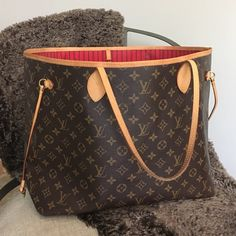 Authentic Louis Vuitton Neverfull GM NM Cherry Red Authentic. Cherry red interior. Scuffs on corners, marks on canvas, stains and marks inside, light fragrance odor. NO TRADES. Louis Vuitton Bags Totes