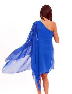 Long Sleeve One Shoulder Dress