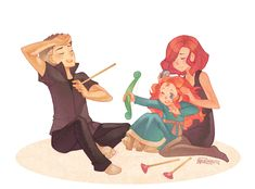 Merida is secretly the child of Hawkeye and Black Widow....makes sense!!!!!