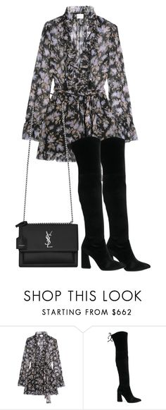 """""""Untitled #5584"""" by theeuropeancloset ❤ liked on Polyvore featuring Zimmermann, Stuart Weitzman and Yves Saint Laurent"""