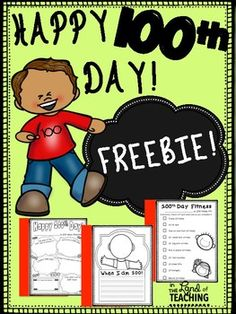 This Freebie includes the following:P.3  All about 100th dayP.4  100th day fitnessP.5 When I am 100th writing pageP.6 Lined writing page with speech bubbleP.7 Blank page with speech bubbleHappy 100th Day y'all!!Please come back to leave feedback as it helps me make my product better suit your needs!Thank You!*** How To Follow My Store ***Click the green star beside my name at the top of this page OR at the top of my store page.