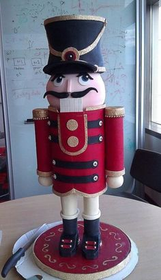 This giant nutcracker looks like he should be the doorman at FAO Schwarz