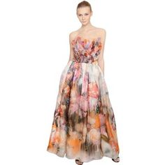 Free shipping 2013 fashion bohemia flowers tank chiffon long dress francesca piccini women floral printed silk organza dress fandeluxe Images