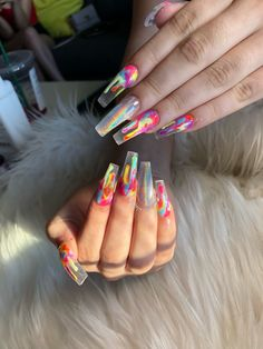 Discovered by Find images and videos about nails on We Heart It the app to get lost in what you love - nails Long Nail Designs, Acrylic Nail Designs, Acrylic Nails, Acrylics, Dope Nails, Nails On Fleek, Gorgeous Nails, Pretty Nails, Hair And Nails