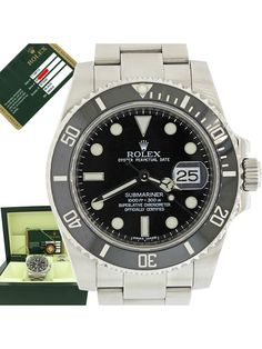 Rolex Submariner 116610 LN Steel Ceramic Black 40mm Date Dive Watch Box Papers