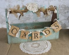 Wedding Card Holder Shabby Chic Wedding by TheShabbyChicWedding, $86.00