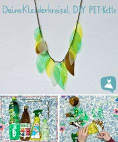Upcycling Jewellery from old plastic bottles