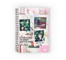 BTS Jin Run Polaroids Spiral Notebook