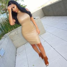 #NudeSeries  #OOTD Dress @hotmiamistyles Shoes @lolashoetiquedolls #glamrezy