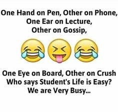 Hahaha yes we are very busy funny thoughts, funny images, funny pictures, twisted Funny School Jokes, Very Funny Jokes, Crazy Funny Memes, Really Funny Memes, Funny Facts, Exams Funny, Hilarious, Random Facts, School Humor