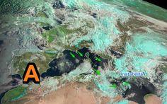 La Situazione dal Satellite: Alta pressione che avanza verso l'Italia #meteo #alta #azzorre #previsione