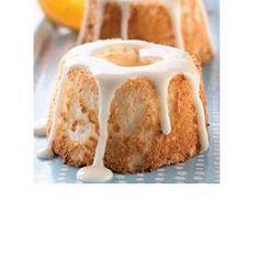 Mini Orange Angel Food Cakes