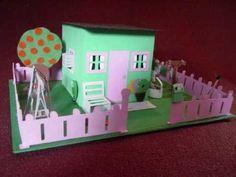 Chipboard Mini House set - YouTube