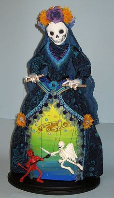 Awesome Day of the Dead doll   Created by: Arley Berryhill