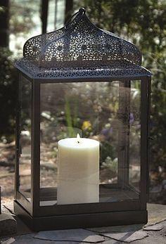 Koldyke Metal Candle Lantern- along path out front