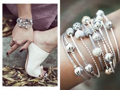 @chrisellelim has created the perfect boho-chic look by layering PANDORA ESSENCE COLLECTION bracelets. #PANDORAloves