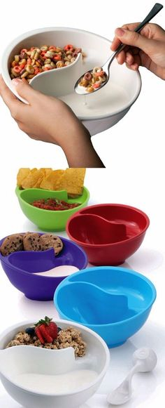 Soggy bowl is great for many other uses such as chips and dips, milk and cookies, fries and ketchup, veggies and dip