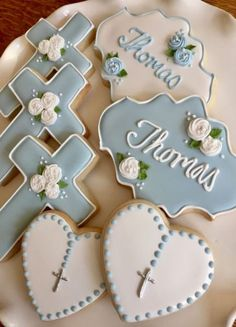 64 Trendy ideas baby boy baptism cookies first communion Baptism Food, Baptism Desserts, Baptism Cupcakes, Baby Boy Baptism, Baptism Ideas, Decoration Communion, Baptism Party Decorations, Communion Favors, Baby Boy Cakes