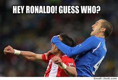 Funny Ronaldo meme: Guess who?
