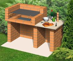 New ideas for backyard bbq brick outdoor fireplaces - Backyard Landscaping Backyard Kitchen, Fire Pit Backyard, Outdoor Kitchen Design, Backyard Bbq, Outdoor Kitchens, Small Kitchens, White Kitchens, Backyard Patio Designs, Backyard Landscaping