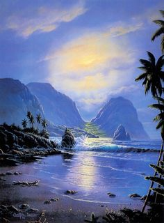 Christian Lassen (часть I) - Вечерний прибой на острове Мауи