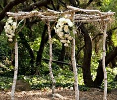 rustic alter wedding ideas | Very cute arch way for rustic diy wedding