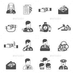 Corruption Black Icons - Concepts Business