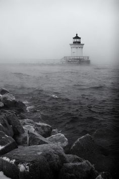 Nor'easter, Bug Lighthouse, South Portland, Maine