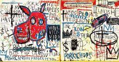 "Jean-Michel Basquiat ""Man from Naples"" 1982 ""Basquiat's canon revolves around single heroic figures: athletes, prophets, warriors..."